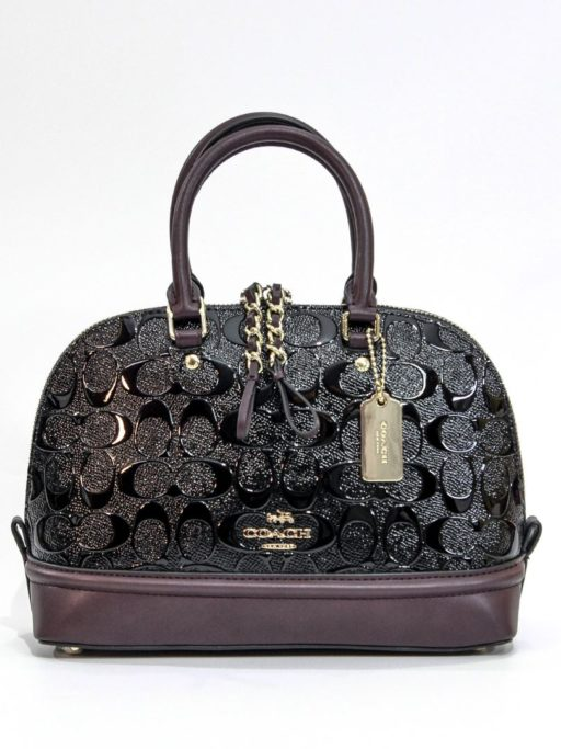 COACH Mini Sierra satchel (black oxblood)