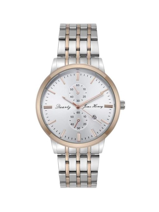 jh mens classic white rose gold