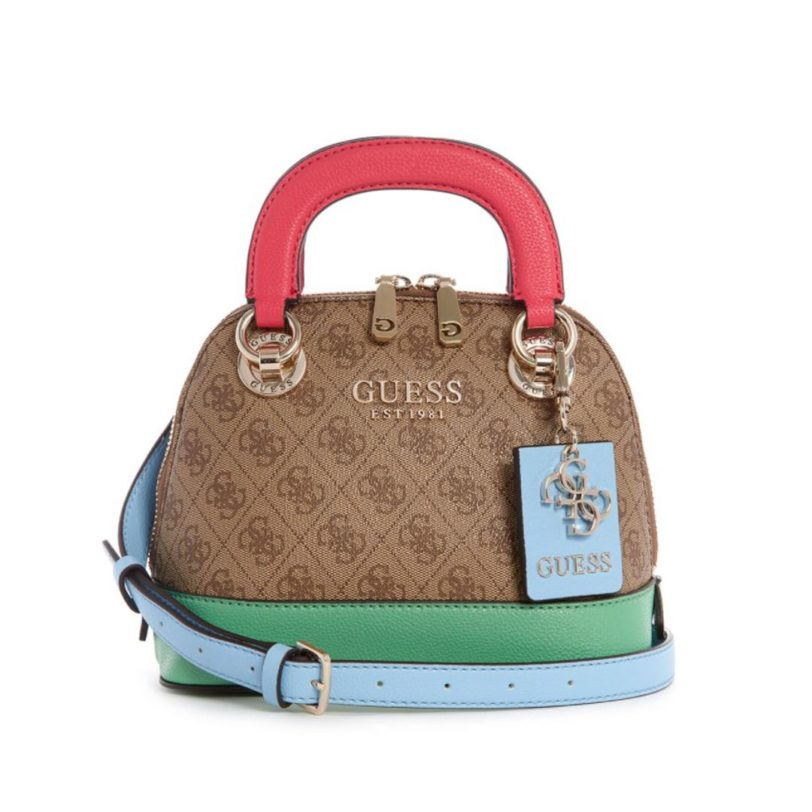 tas guess Cathleen satchel dome multi color