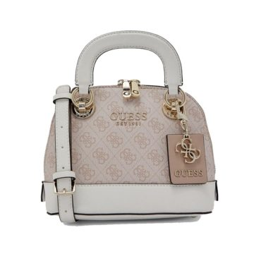 GUESS Cathleen Dome Satchel (White Blush)
