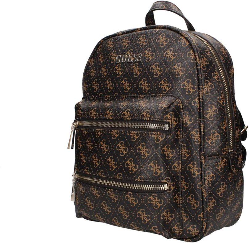 tas backpack guess caley dark brown depan