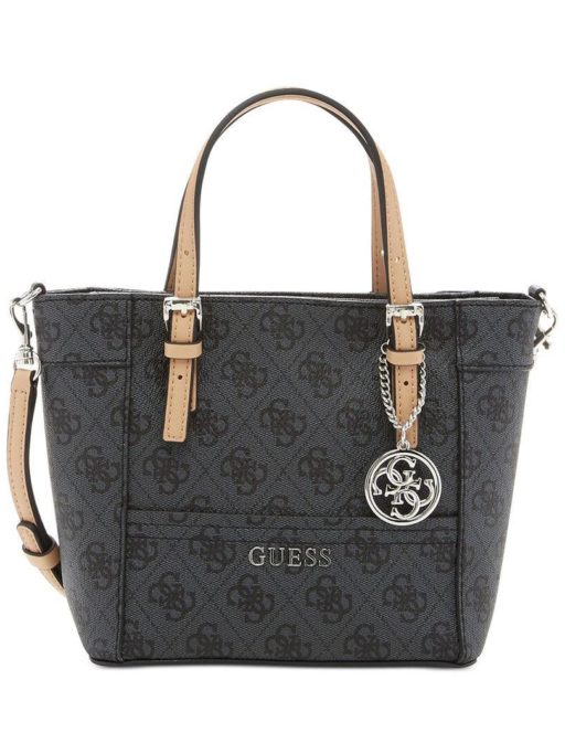 tas guess Delaney mini tote black