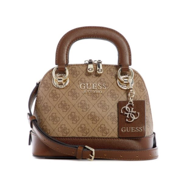 tas guess Cathleen satchel dome brown