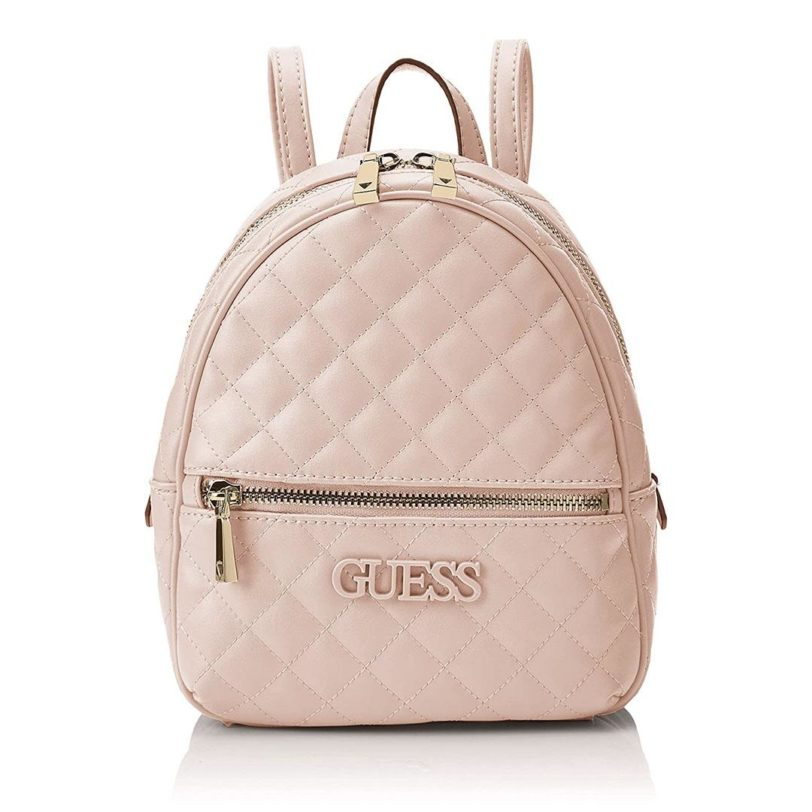 tas guess elliana backpack pink front