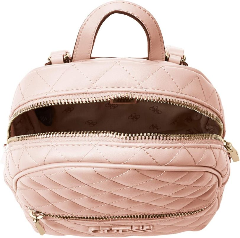 tas guess elliana backpack pink interior