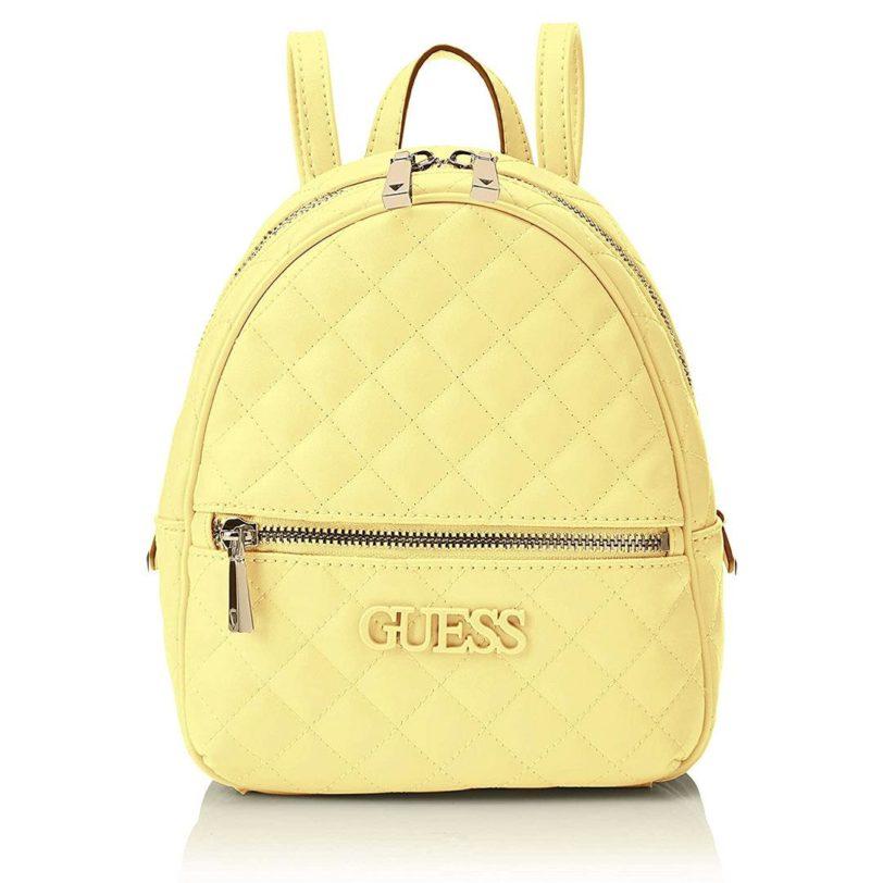 tas guess elliana backpack yellow