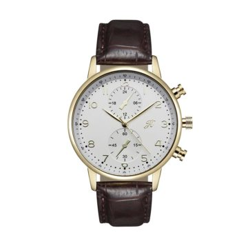 JH Mens Leather Brown Gold