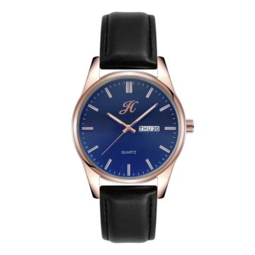 JH Mens Leather Rose Gold