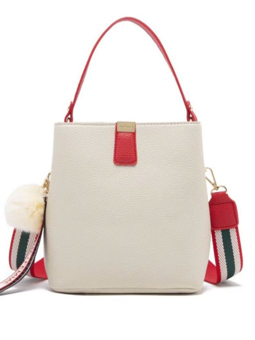 jh adeline bucket bag white