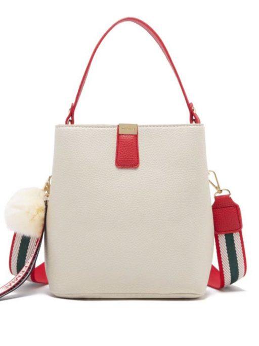 jh adeline bucket bag white