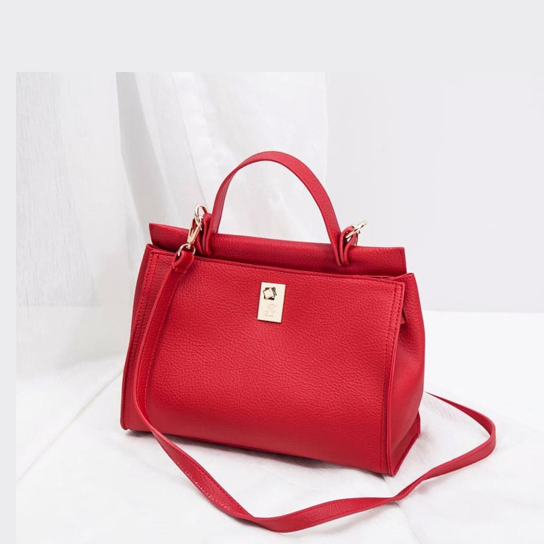tas adelle satchel bag red
