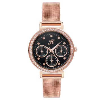 jh ladies black rose gold