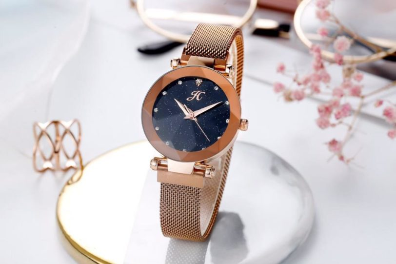 jam jh diamond rose gold rantai pasir