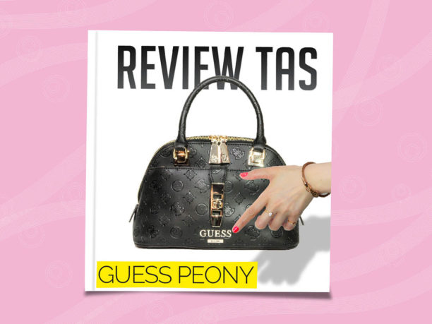 review tas guess peony satchel