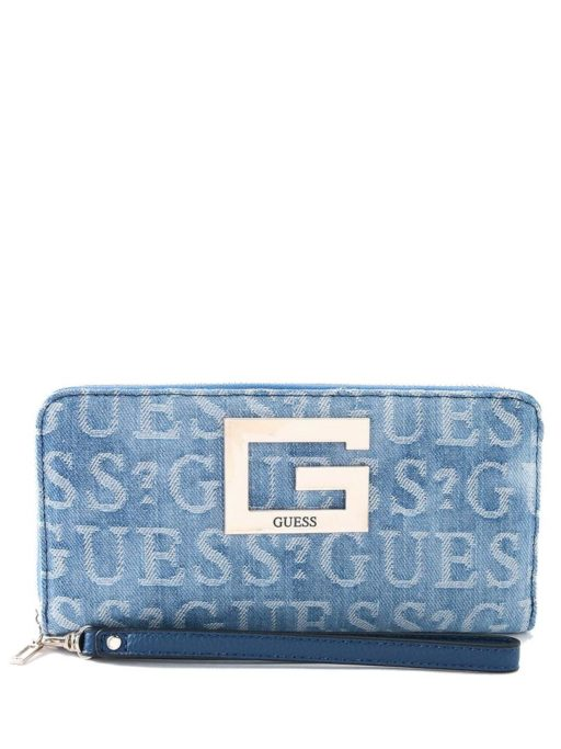 GUESS Brightside Wallet Denim