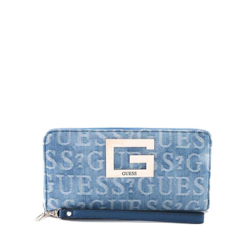 GUESS Brightside Wallet Denim