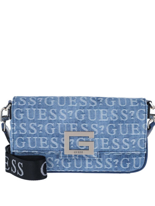 GUESS Brightside Shoulder Bag Denim