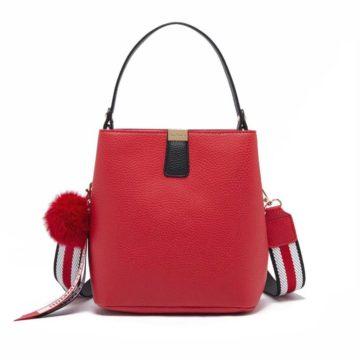 jh adeline bucket bag red