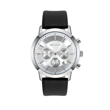 JH Mens Sporty Leather Silver (8305)