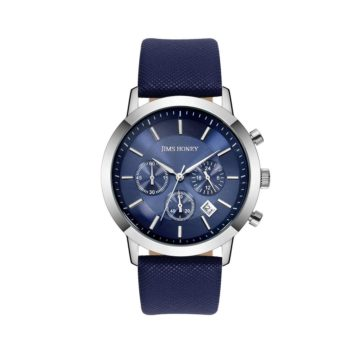 JH Mens Sporty Leather Blue