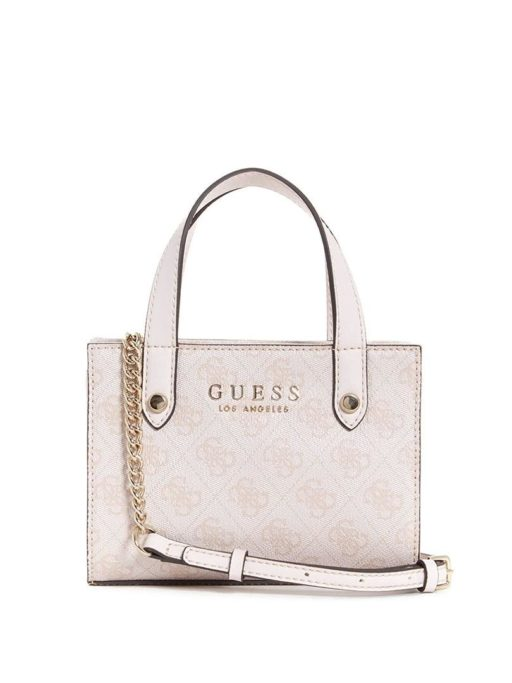 GUESS Florence Mini Satchel white