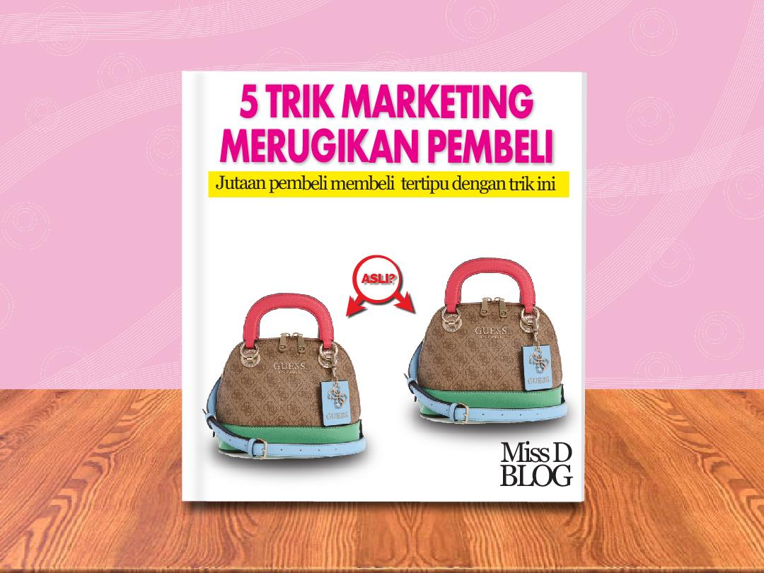 Trik Marketing Barang Palsu di Marketplace
