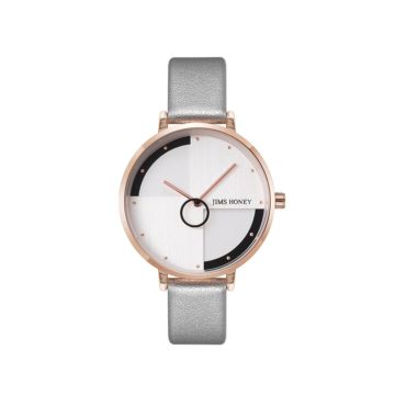 JH Ladies Classic Modern Leather Silver (8129)