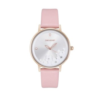 JH Ladies Lace Flower Leather Pink (8133)