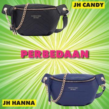 Perbedaan JH Hanna Vs Candy Waist Bag