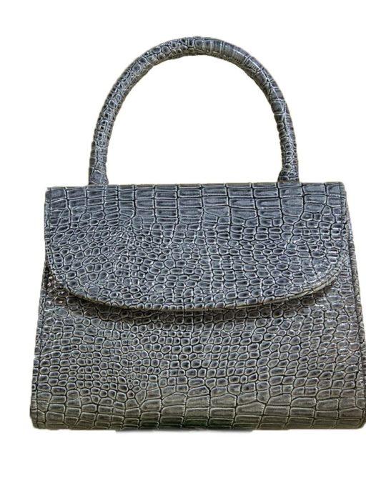 handle bag elegan charen warna gray channel dty